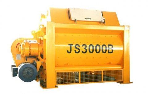 خلاط الخرسانة JS3000,خلاط الخرسانة 180 م³ / سا,خلاط رمح التوأم