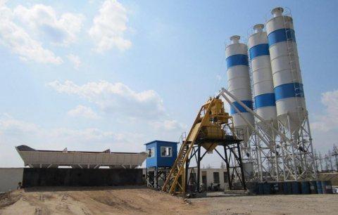 محطة خلط الخرسانة HZS25,محطة خلط الخرسانة 25 م³ / سا