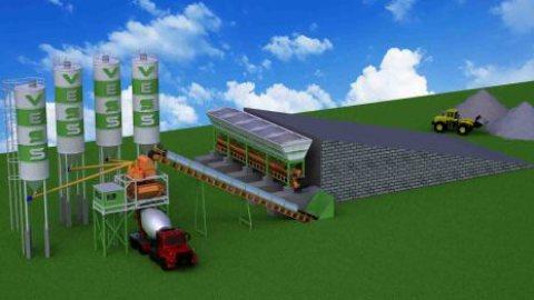 محطة خرسانة جاهزة 100 م³/ساعة