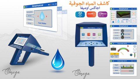جهاز كشف وتحديد مواقع المياه الجوفية والابار الارتوازية تحت الارض