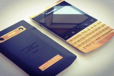 BLACK BERRY PORSCHE GOLD+ARABIC KEY BOARD:PIN:22B87294